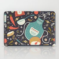 coasters iPad Cases featuring Carrot Cake by Anna Deegan