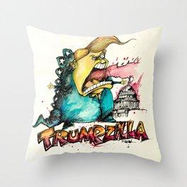 Trumpzilla Throw Pillow