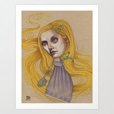 TANGLED HAIR Art Print