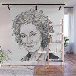 Margaret Atwood Wall Mural