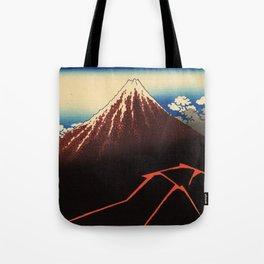 Rainstorm Beneath the Summit (Sanka hakū or 山下白雨) Tote Bag