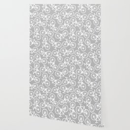Bicycles on Grey Wallpaper