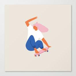 Skateboard girl Canvas Print