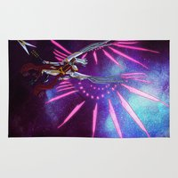 hologram Area & Throw Rugs featuring CYBORG - VALKYRIE by SOMNIVAGRIOUS