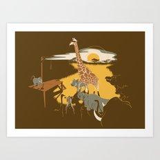 Savanna Trampler Art Print