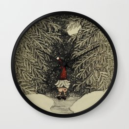 """Tomten Elmer"" call of nature. Wall Clock"