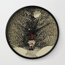 """""""Tomten Elmer"""" call of nature. Wall Clock"""