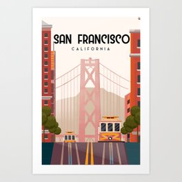 San Francisco california Art Print