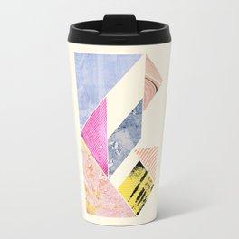 Collaged Tangram Alphabet - B Travel Mug