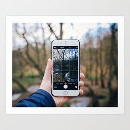 Through the Phone Art Print