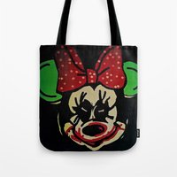 minnie mouse Tote Bags featuring Minnie Mouse by Jide
