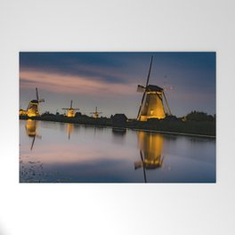 Dutch Wind Mills Welcome Mat