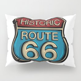 Historic Route 66 Sign Pillow Sham