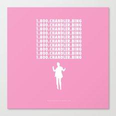 Hotline Bling AKA Chandler Bing // www.pencilmeinstationery.com Canvas Print