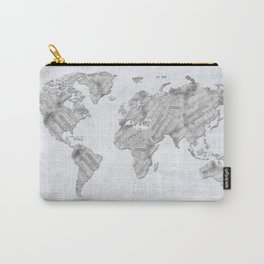 world map music vintage 2 Carry-All Pouch