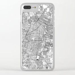 Mexico City White Map Clear iPhone Case
