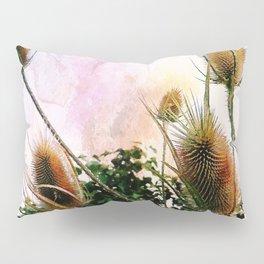 Thistles on a spring sky Pillow Sham