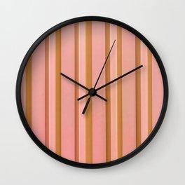 Stripes - Peach Wall Clock