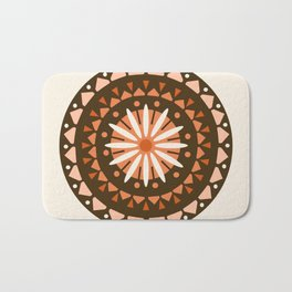 Jivin' - mandala trendy 70s style retro colors decor circle sun Bath Mat