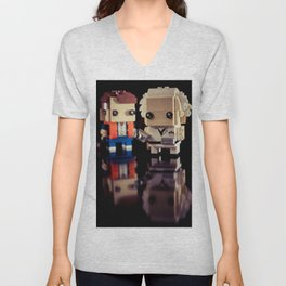 """Doc, where the heck is the delorean?!"" Unisex V-Neck"