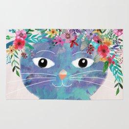 Flower cat II Rug