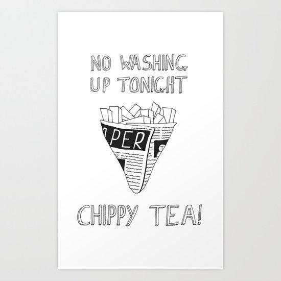 Chippy Tea Art Print