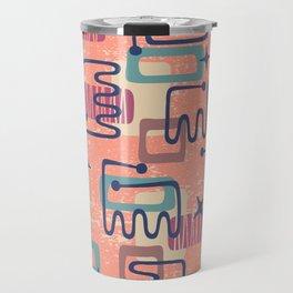 Mid Century Modern Abstract Pattern 951 Travel Mug