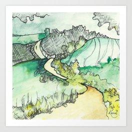 Camino de Santiago Art Print