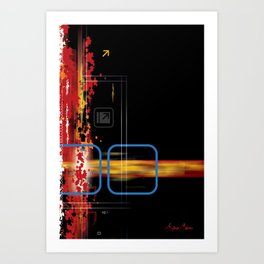 Horizontal and Vertical Art Print