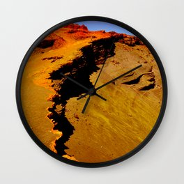 Volcano Lava Field, Big Island of Hawaii Wall Clock