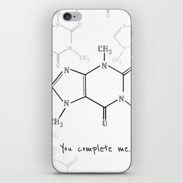 You Complete Me (Caffine Molecule) iPhone Skin