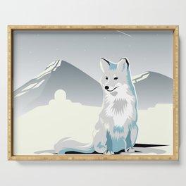 Artic Fox Serving Tray
