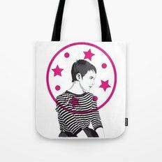 Jean Seberg//Black & White Tote Bag