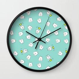 Teeth in crown Wall Clock