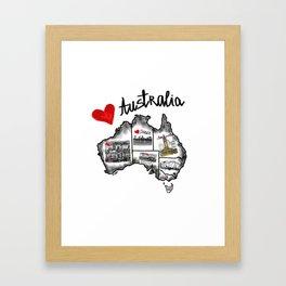 I love Australia Framed Art Print
