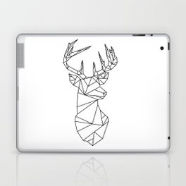 Geometric Stag (Black on White) Laptop & iPad Skin