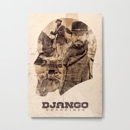 Django Unchained Metal Print