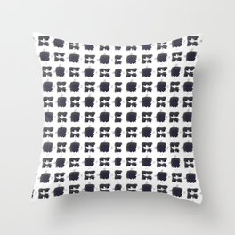 Byzantine White Style Throw Pillow