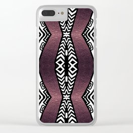 Purple Shimmer Clear iPhone Case