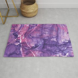 Smokey Ultra Violet and Pink Marble Rug