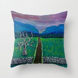 Mountain Drive Throw Pillow