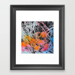 Multi Colored Abstract Nature I Framed Art Print