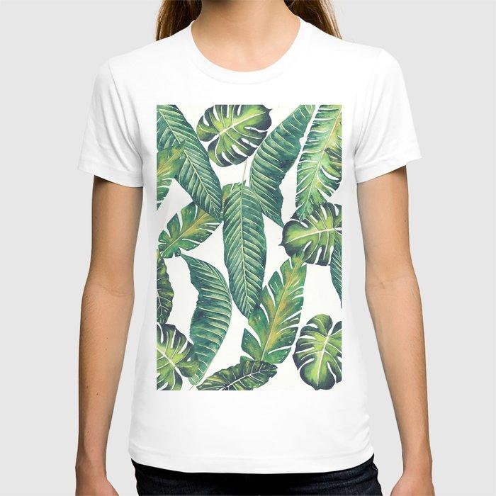 Jungle Leaves, Banana, Monstera II #society6 T-shirt