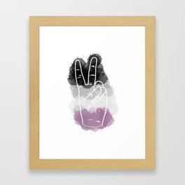 Asexual Pride Framed Art Print
