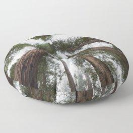 Redwood Portal - nature photography Floor Pillow