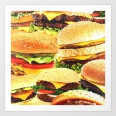 Burgers Art Print