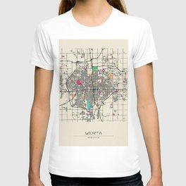 Colorful City Maps: Wichita, Kansas T-shirt