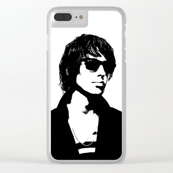 Julian Casablancas The Strokes Black And White Clear iPhone Case