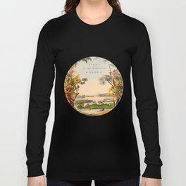 Historical Vintage Hand Drawn Illustration of Guyana South America Natural Scenes Long Sleeve T-shirt