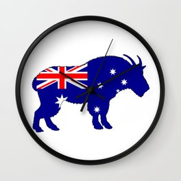 Australian Flag - Mountain Goat Wall Clock